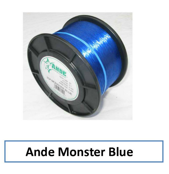 Ande monster blue monofilament 1 2 spools for Ande fishing line
